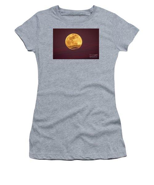 Full Moon Above Clouds Women's T-Shirt