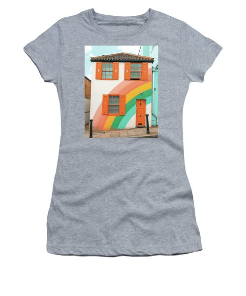 Funky Rainbow House Women's T-Shirt