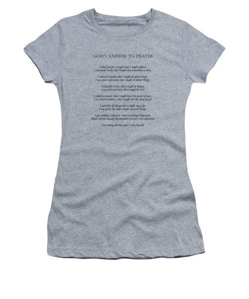 God's Answer To Prayer Women's T-Shirt