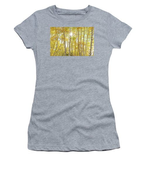 Women's T-Shirt (Athletic Fit) featuring the photograph Golden Sunshine On An Autumn Day by James BO Insogna