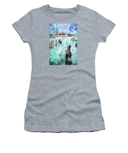 Gondola Rides And San Giorgio Di Maggiore In Venice Women's T-Shirt
