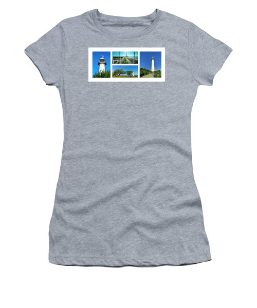 Grand Old Lighthouse Biloxi Ms Collage A1a Women's T-Shirt