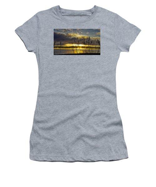 Grassy Shoreline Sunrise Women's T-Shirt