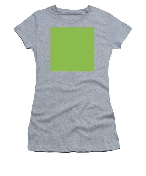 Women's T-Shirt featuring the mixed media Greenery - Pantone Color Of The Year 2017 by Carol Cavalaris