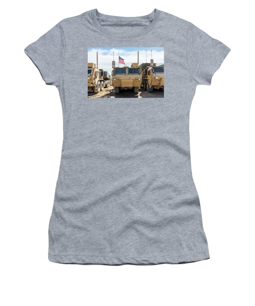 Women's T-Shirt (Athletic Fit) featuring the photograph Heavy Patriotism by SR Green