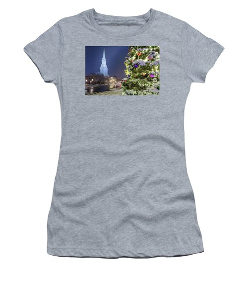 Holiday Snow, Market Square Women's T-Shirt