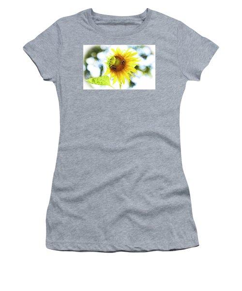 Honey Bees On Sunflower Women's T-Shirt