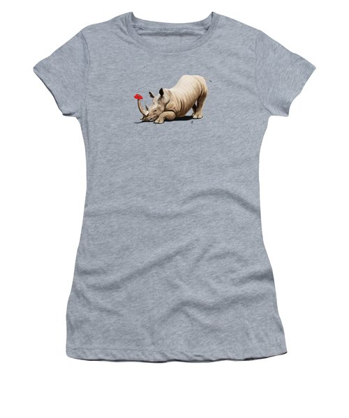 Horny Wordless Women's T-Shirt (Athletic Fit)