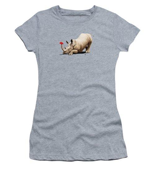 Horny Wordless Women's T-Shirt
