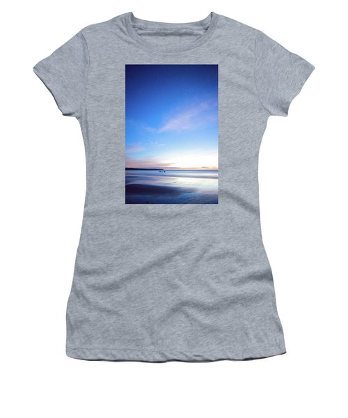 Horses Play In The Surf At Twilight Women's T-Shirt