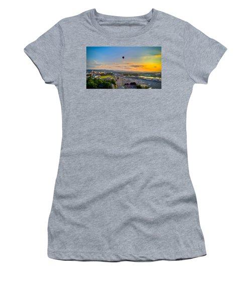 Hot Air Ballon Sunset Women's T-Shirt