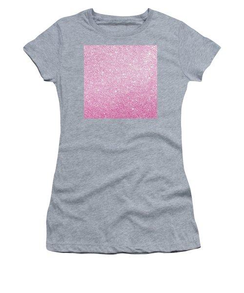Hot Pink Glitter Women's T-Shirt