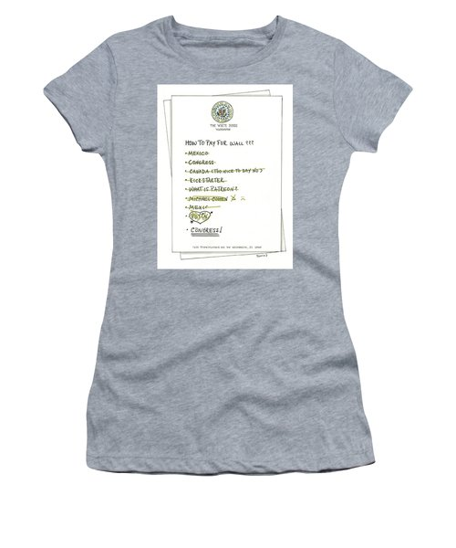 How To Pay For Wall  Women's T-Shirt