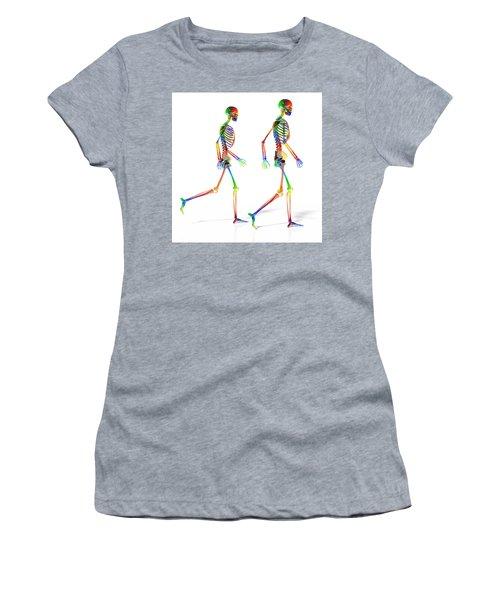 Human Skeleton Pair Women's T-Shirt
