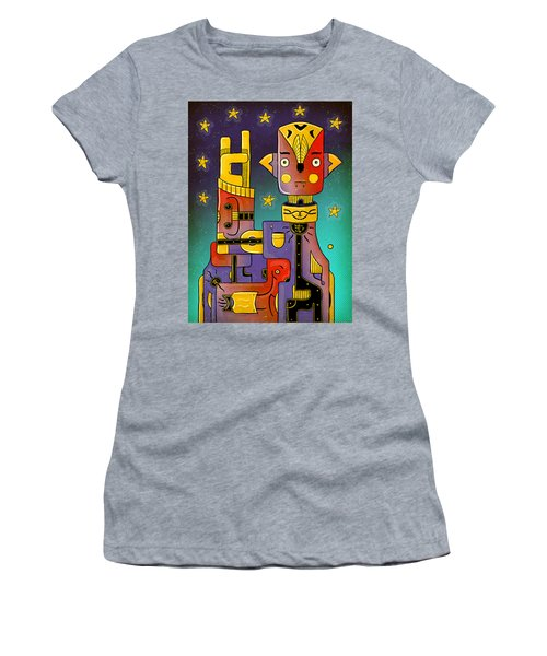Women's T-Shirt featuring the photograph I Come In Peace - Heavy Metal by Sotuland Art