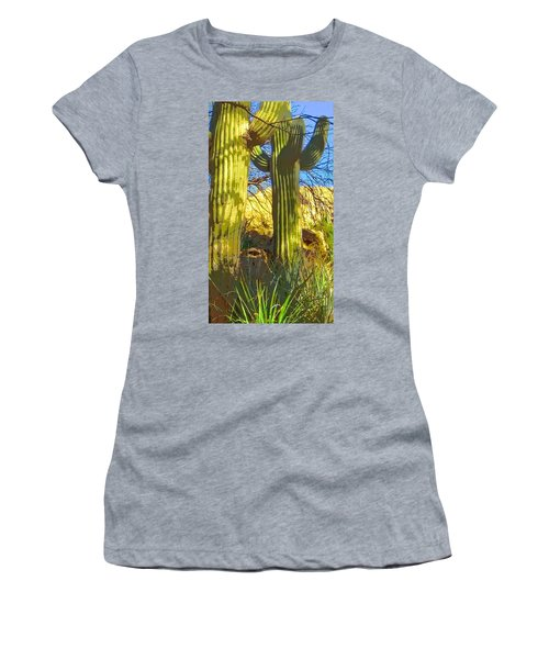 In The Shadow Of Saguaros Women's T-Shirt