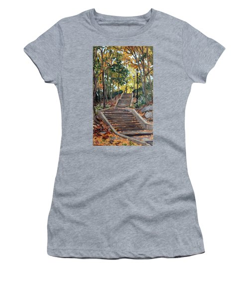 Isham Park Steps New York Autumn Women's T-Shirt