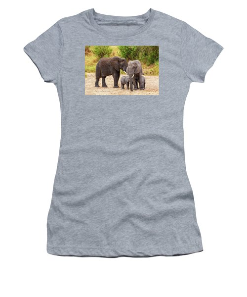 Women's T-Shirt featuring the photograph It's Twins by Kay Brewer