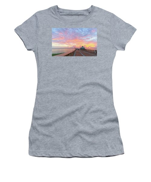 Juno Beach Pier Sunrise Women's T-Shirt