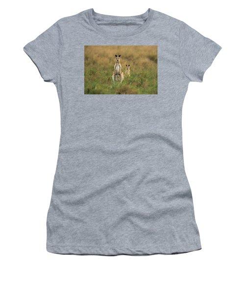 Kangaroos In The Countryside Women's T-Shirt