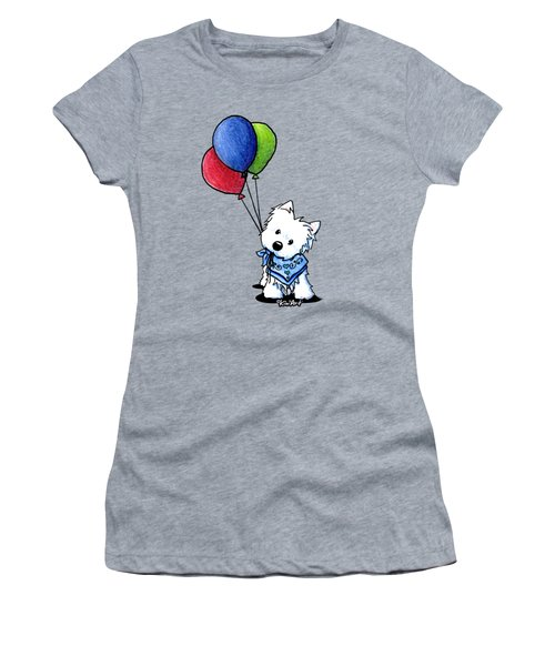 Kiniart Westie With Balloons Women's T-Shirt