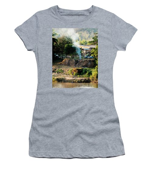 Laos Riverside Scene  Women's T-Shirt