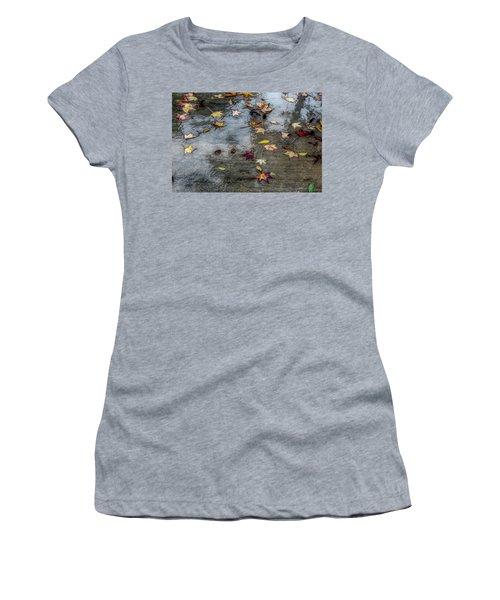 Leaves In The Rain Women's T-Shirt