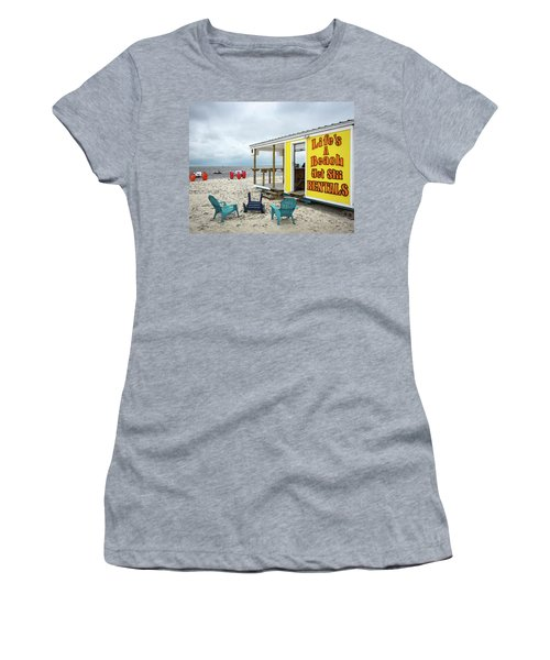 Women's T-Shirt featuring the photograph Like's A Beach by Jim Mathis