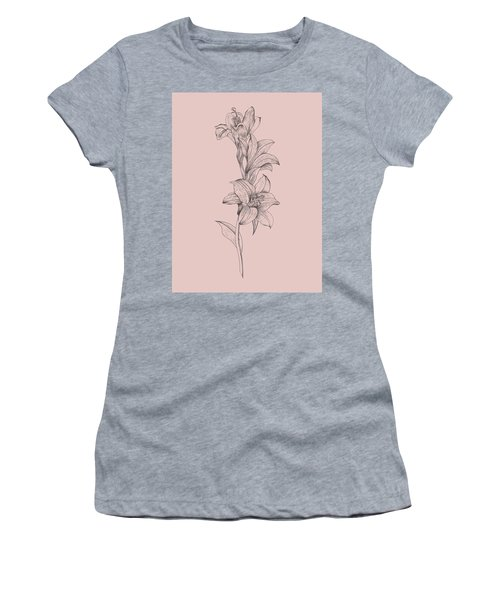 Lily Blush Pink  Flower Women's T-Shirt