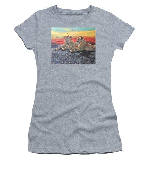Lion Sunset Women's T-Shirt