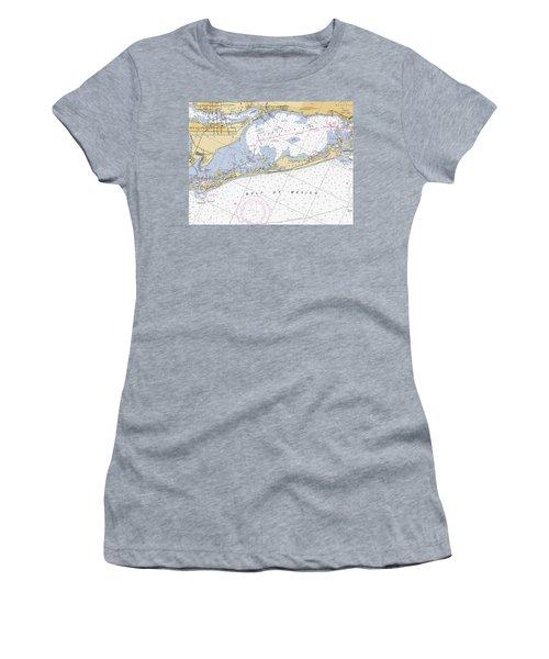 Longboat Ket Florida Noaa Nautical Chart Women's T-Shirt