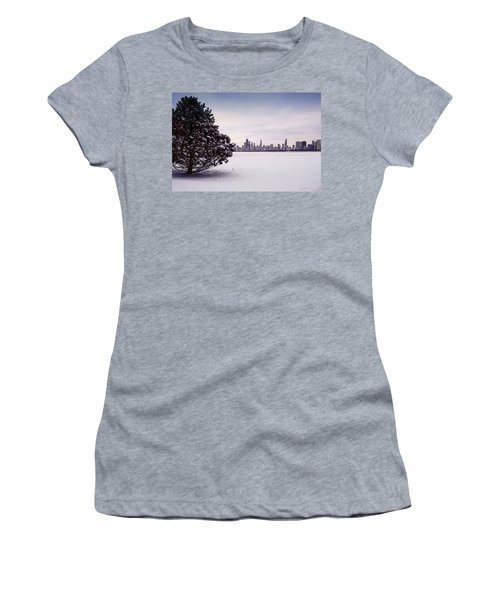 Women's T-Shirt featuring the photograph Lovely Winter Chicago by Milena Ilieva