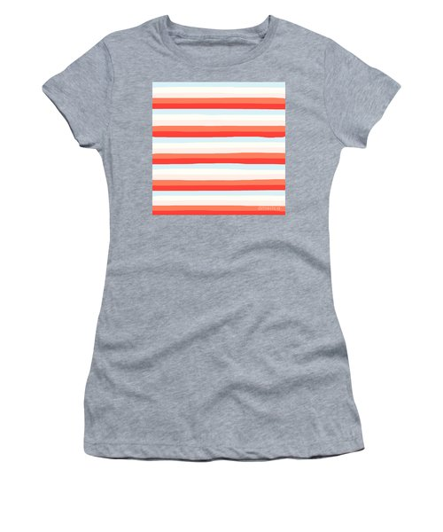 lumpy or bumpy lines abstract and colorful - QAB266 Women's T-Shirt