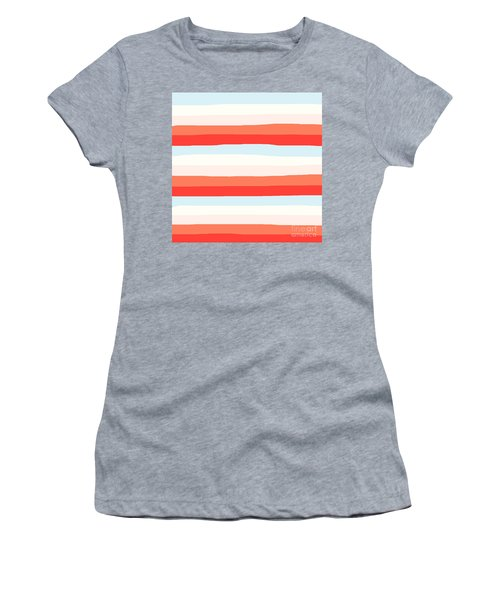 lumpy or bumpy lines abstract and colorful - QAB268 Women's T-Shirt