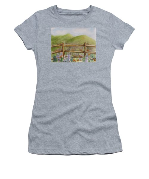 Lupines With A Side Of Poppies Women's T-Shirt
