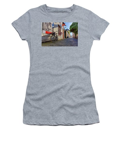 Lux Cobblestone Road Brugge Belgium Women's T-Shirt
