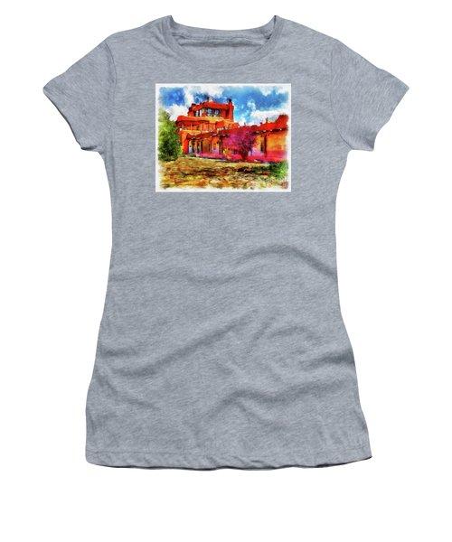 Mabel's Courtyard In Aquarelle Women's T-Shirt
