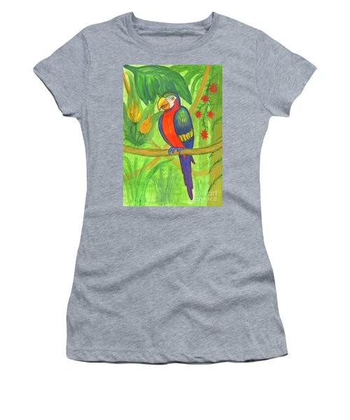 Macaw Parrot In The Wild Women's T-Shirt