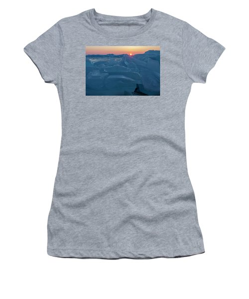 Mackinaw City Ice Formations 21618013 Women's T-Shirt