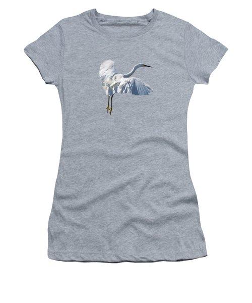 Majestic Looking Snowy Egret Women's T-Shirt
