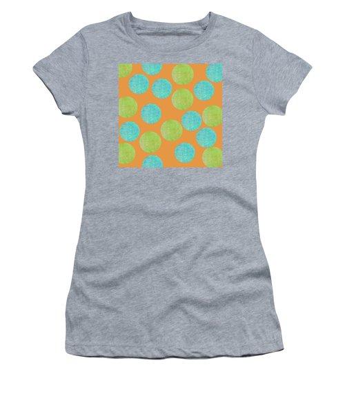 Malaysian Batik Polka Dot Print Women's T-Shirt