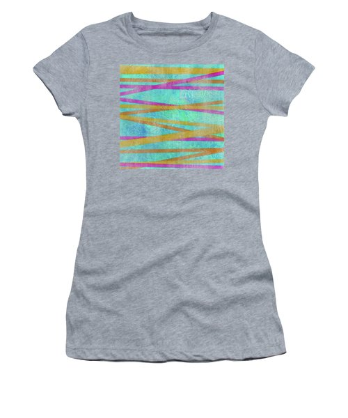Malaysian Tropical Batik Strip Print Women's T-Shirt