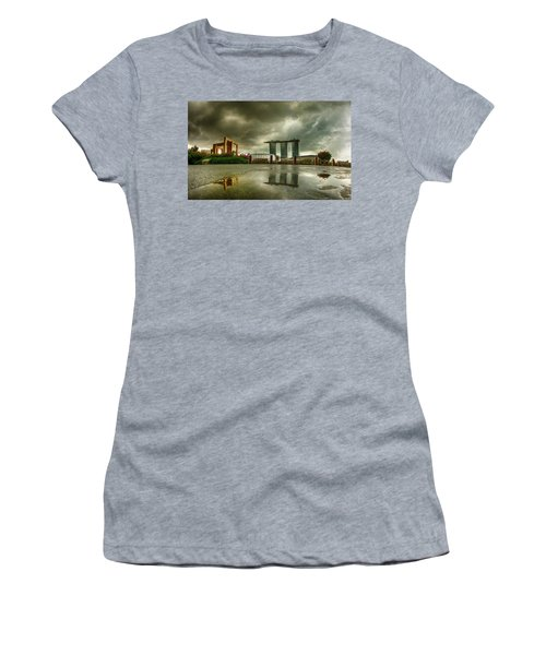 Women's T-Shirt featuring the photograph Marina Bay Sands Hotel by Chris Cousins