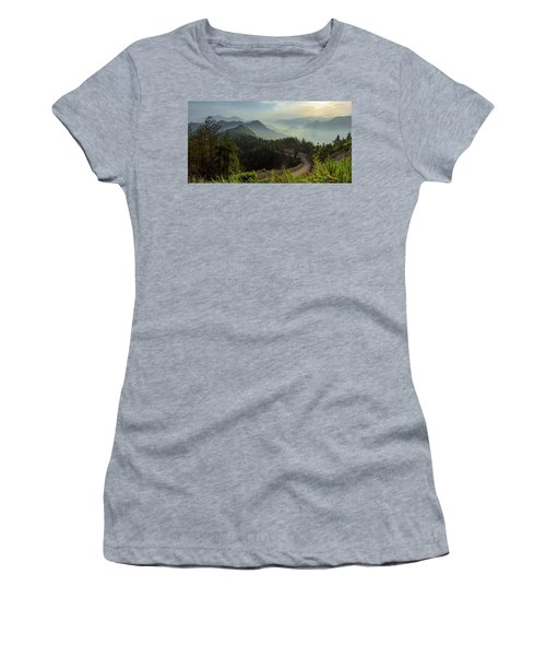 Women's T-Shirt featuring the photograph Misty Mountain Morning by William Dickman