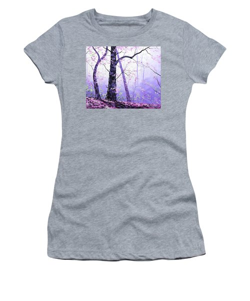 Misty Pink Trees Forest Women's T-Shirt
