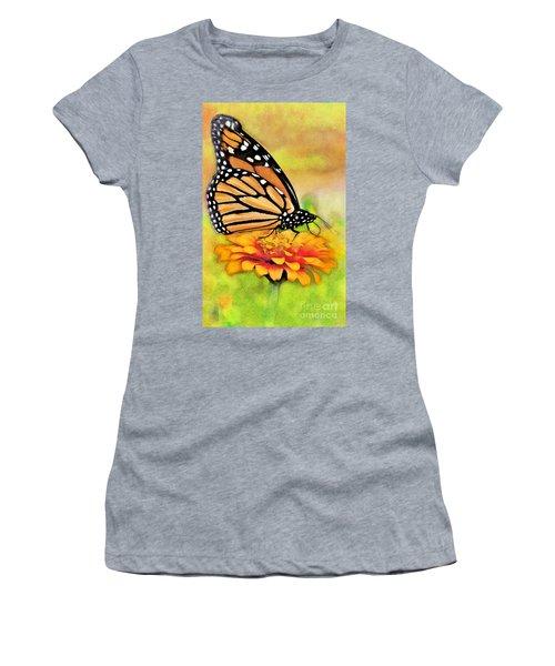 Monarch Butterfly On Flower Women's T-Shirt