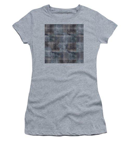 Moody Blue Plaid Women's T-Shirt