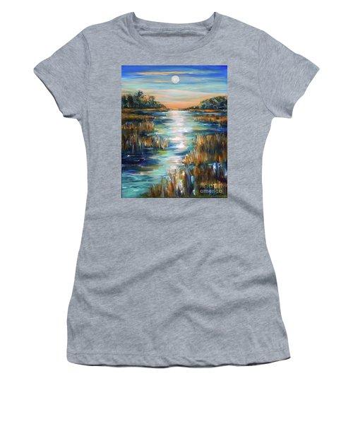 Moon Over Waterway Women's T-Shirt