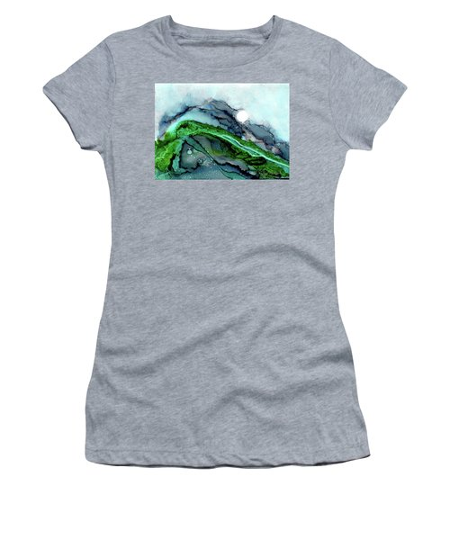 Women's T-Shirt featuring the painting Moondance I by Kathryn Riley Parker