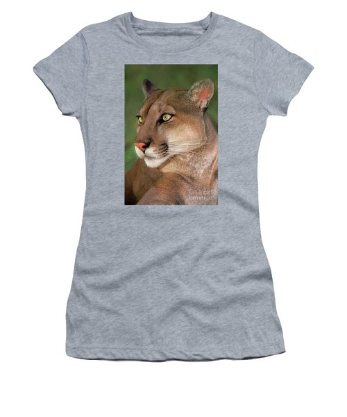 Mountain Lion Portrait Wildlife Rescue Women's T-Shirt